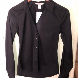 H&M long sleeve black button up.
